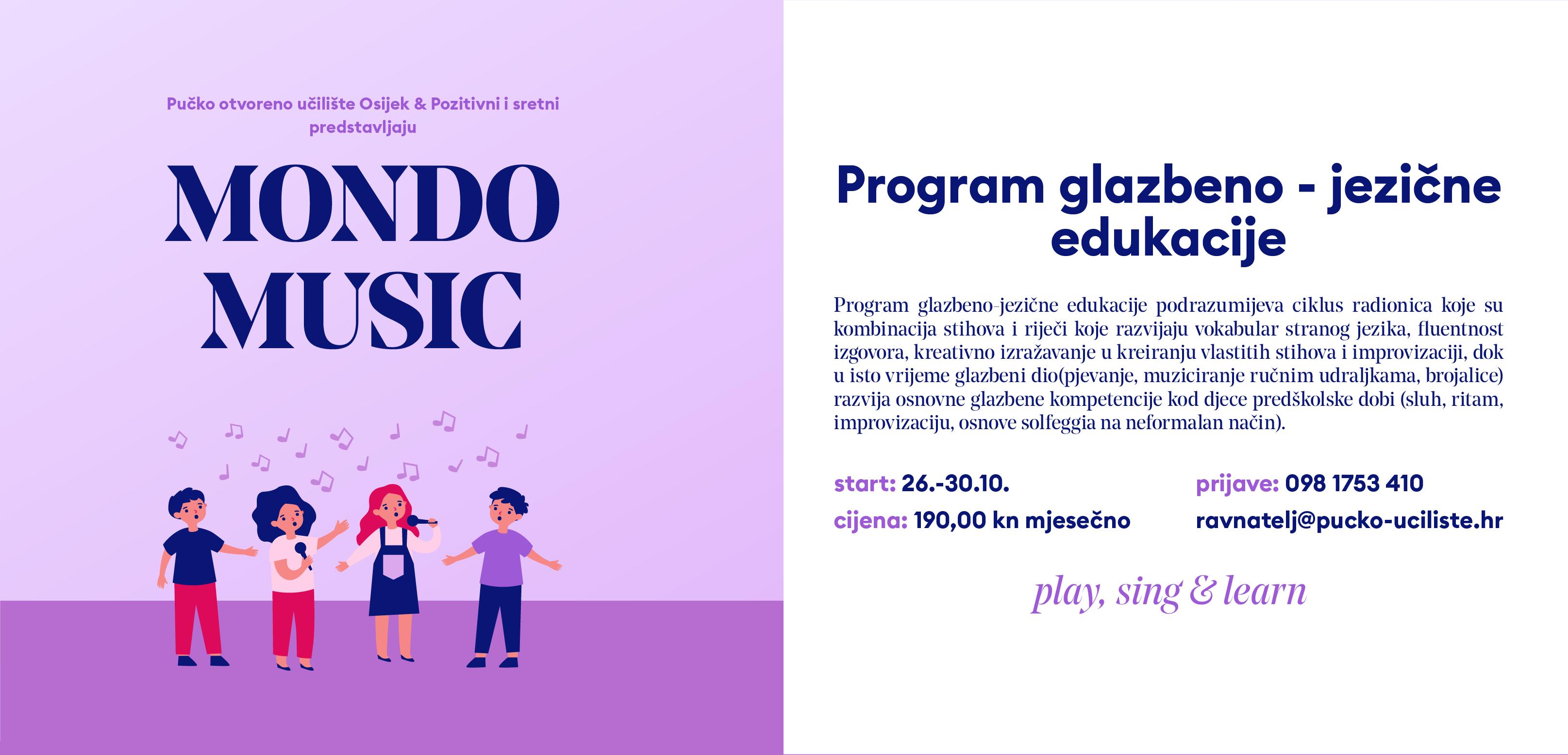 Mondo music: program glazbeno-jezične edukacije