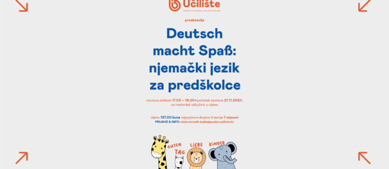 Deutsch macht Spaß: njemački jezik za predškolce